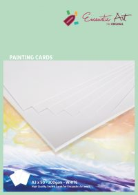 Encaustic verfkaarten A3 wit 50 stuks