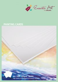 Encaustic verfkaarten A4 wit 10 stuks