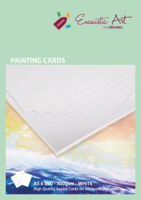 Encaustic verfkaarten A5 wit 10 stuks