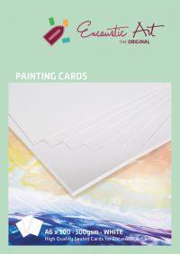 Encaustic verfkaarten A6 wit 10 stuks